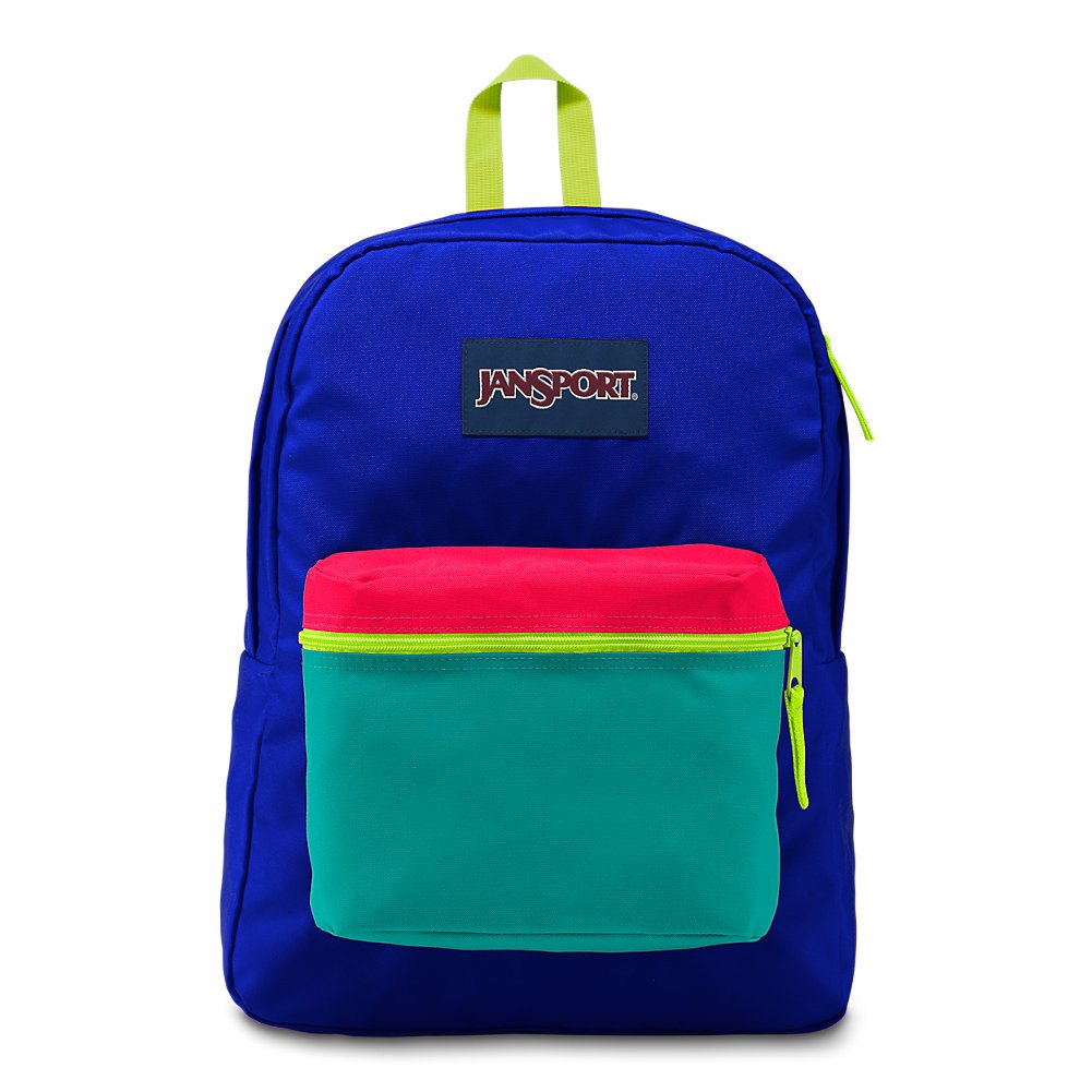 JanSport Exposed Backpack - Regal Blue/Neon Yellow