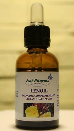 Nat Pharma - Italy LENOIL 25 ml con Aceite de linaza y onagra para Perros y Gatos, ...