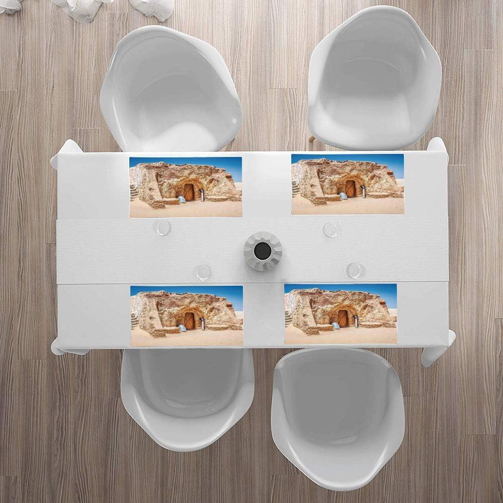 30x45cm survol en avion des monuments et des merveilles du monde Eiffel Thailan,Lavable Napperons pour Cuisine ou pour Table /à Manger R/ésiste /à la Chaleur Antid/érapant Lot de 4 Sets de Table,Voyage