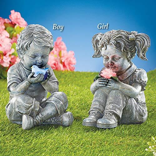 Buy solar lighted garden statue