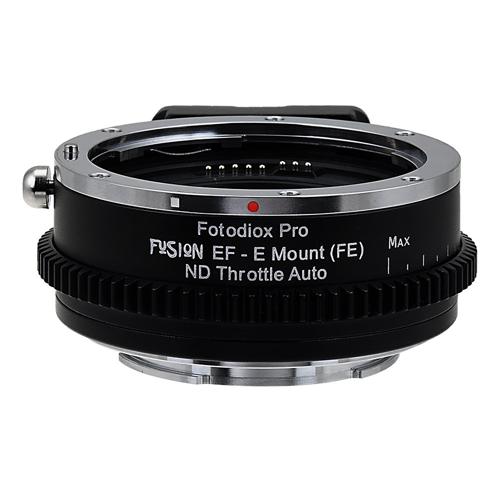 Vizelex ND Throttle Fusion Smart AF Lens Adapter - Canon EOS - EF (NOT EF-S) D/SLR Lens to Sony Alpha E-Mount Mirrorless Camera Body with Full Automated Functions and Built-In Variable ND Filter by Fotodiox