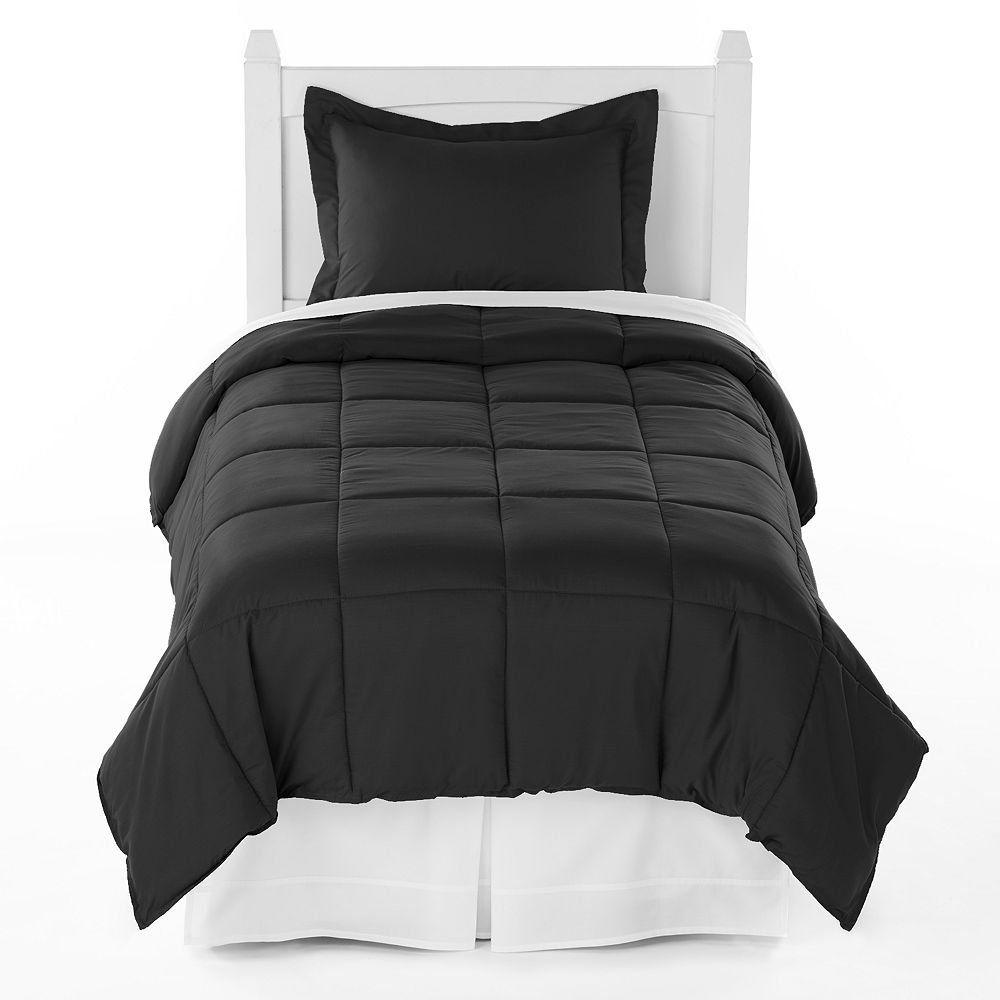 Ivy Union Premium Down Alternative Comforter Set Twin XL Extra Long / Twin Black