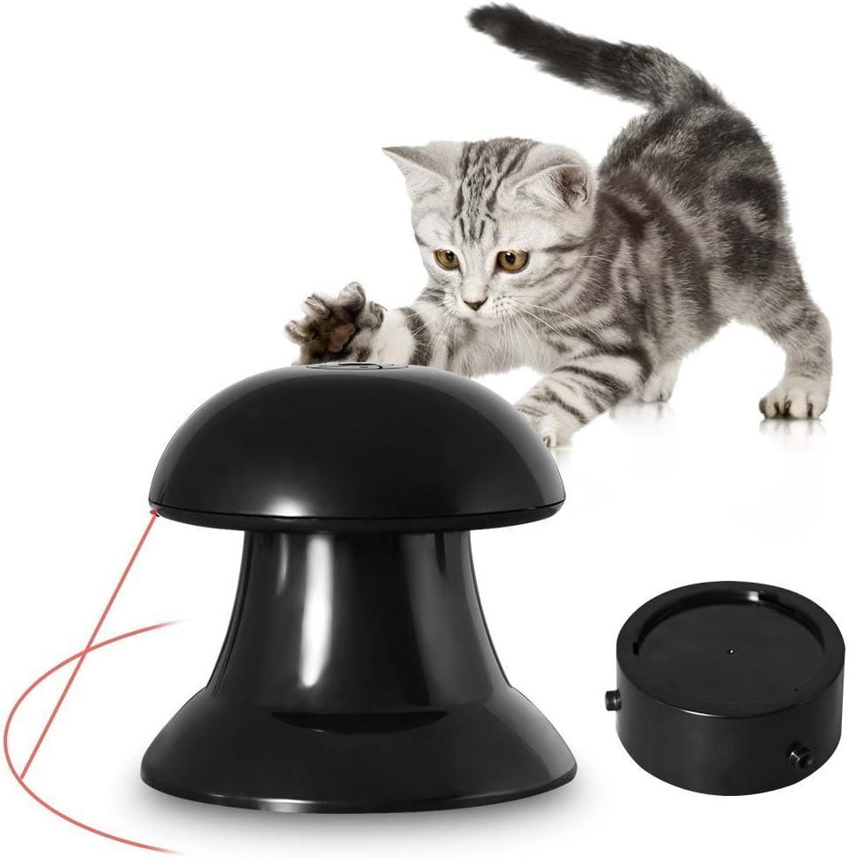 juguete gatos, juguete con luz giratoria Cat Toy Safe Pet Entertainment Ejercicio para gatos y perros-negro: Amazon.es: Productos para mascotas