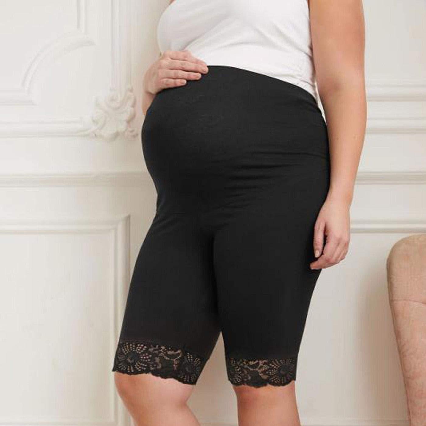 Barlingrock Women Under The Bump Maternity Panties Pregnancy Leggings Underwear,Maternity Mid-Rise Shortie Shorts,Mother Comfy Cotton Underwear Short Pants Briefs