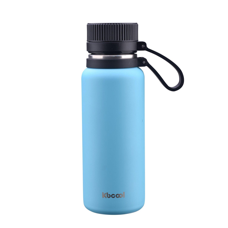 ポータブルスポーツボトルステンレス鋼真空水bottle-二重壁メタル、BPAフリー、漏れ防止、ホット&コールド、緑水ボトル B076P6BK1X ブルー 18oz