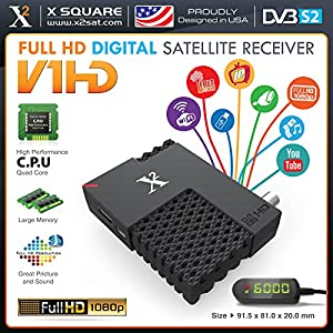 X2 V1 Mini HD DVB-S2 (FTA) with IPTV Hybrid Satellite Receiver, YouTube, Online Update, USB WiFi - New Version