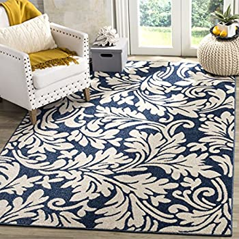 Amazon Com Safavieh Amherst Collection Amt425p Navy And