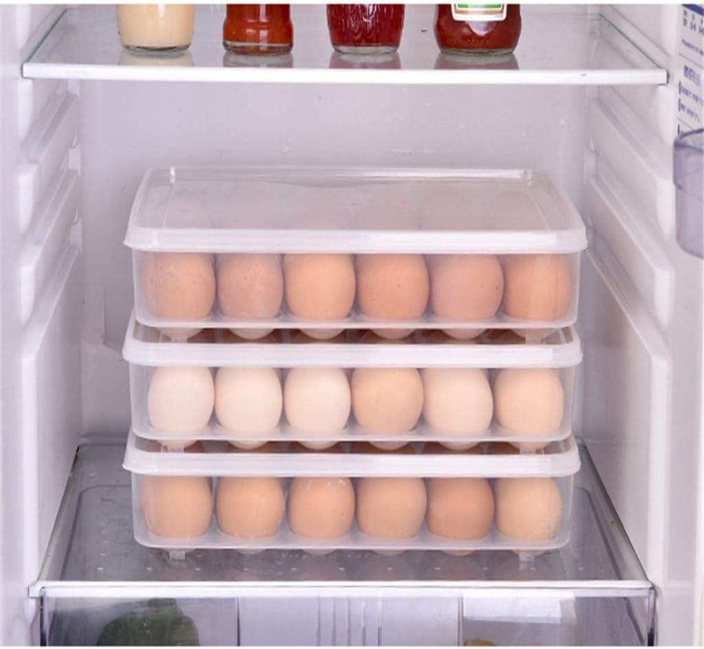 duquanxinquan R/écipient /à Oeufs,24 Grille Porte-Oeufs Conteneur de Stockage doeufs,Support /à /œufs pour r/éfrig/érateur,Plateau Doeufs,Boite a Oeufs en Plastique Boite de Rangement doeufs de Cuisine