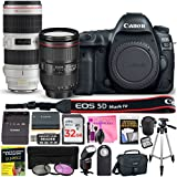 Canon EOS 5D Mark IV 30.4 MP DSLR Camera (WiFi) PROFESSIONAL PHOTOGRAPHER Multi-Lens Kit with EF 24-105mm f/4L IS II USM Lens, EF 70-200mm f/2.8L IS II USM Telephoto Zoom Lens & Camera Works Bundle
