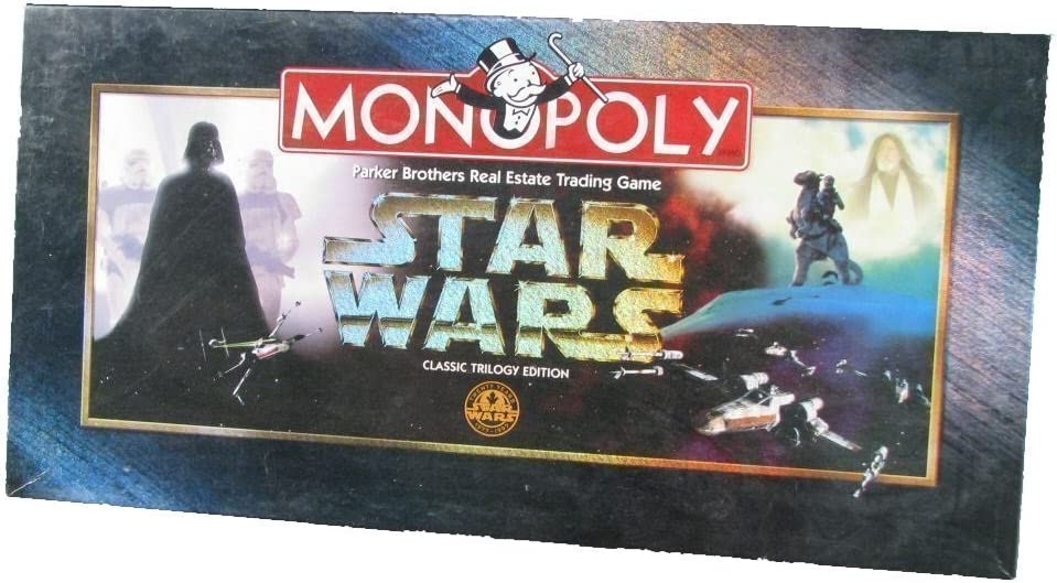 1997 Monopoly Star Wars Classic Trilogy Edition Game Board VINTAGE
