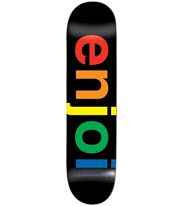"Enjoi Spectrum Black Deck 8.0"" Resin 7 Skateboard Decks"
