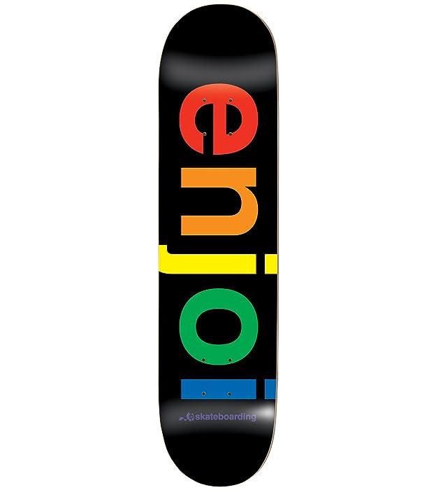 "Enjoi Spectrum Black Deck 8.0"" Resin 7 Skateboard Decks"