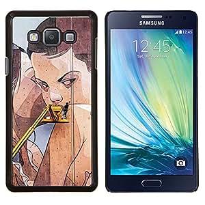 "Be-Star Único Patrón Plástico Duro Fundas Cover Cubre Hard Case Cover Para Samsung Galaxy A7 / SM-A700 ( Street Art Drawing Pared mujer lesbiana"" )"