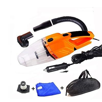 AoforzBrand Aspirateur de Voiture 120W Aspirateur à Main portatif Aspirateur à Main Automatique Sec/Humide Filtre aspirateur HEPA HEPA 12 Volts