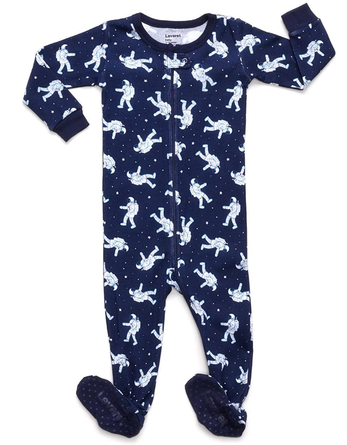 com leveret baby boys footed sleeper pajama % cotton com leveret baby boys footed sleeper pajama 100% cotton size 6m 5 years clothing
