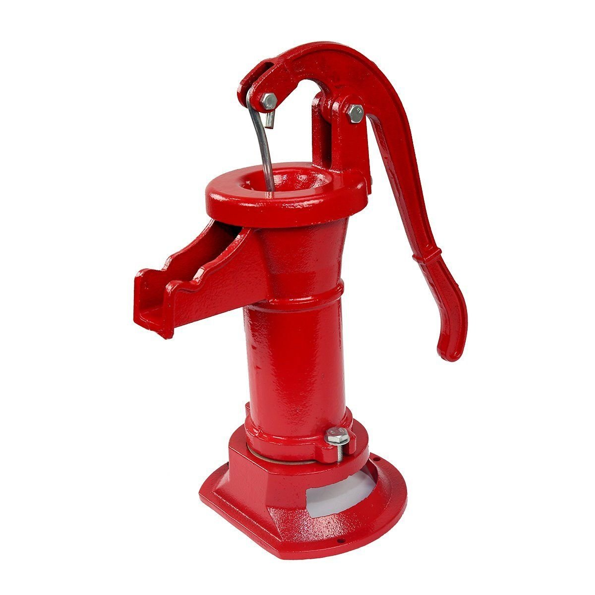 COLIBROX--New Antique Style Heavy Duty Cast Iron Red Well Hand Operated Pitcher Pump 25 Ft. Designed for rugged long life service All parts are made from close grain cast iron for optimum strength. by COLIBROX (Image #2)