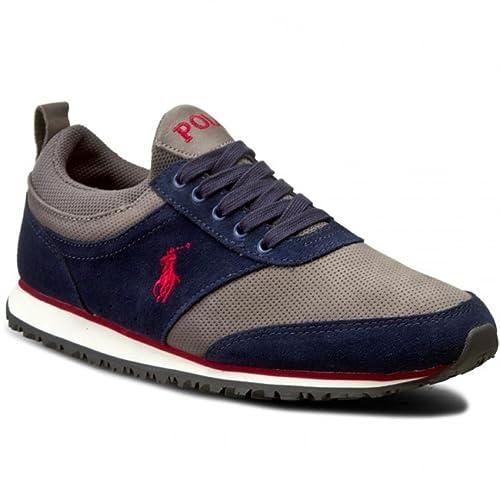 Polo Ralph Lauren - Zapatillas de Deporte Hombre, Azul (Azul), 46: Amazon.es: Zapatos y complementos