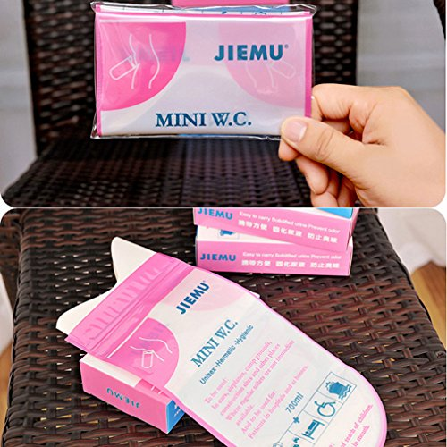 TraveT 4pcs Unisex Men Women Children Brief Relief Disposable Urinal Bags For Travel Car Traffic Jam Camping