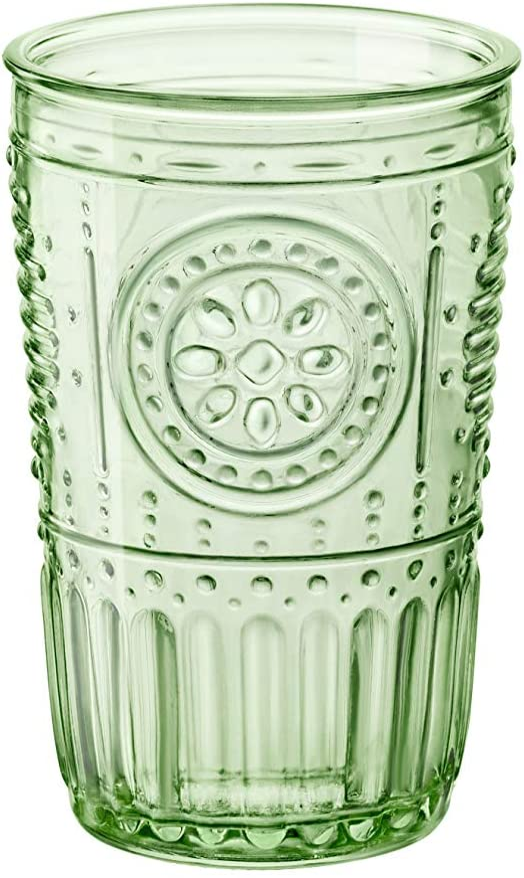 Bormioli Rocco Romantic Tumbler, Set of 4, 10.25 oz, Pastel Green