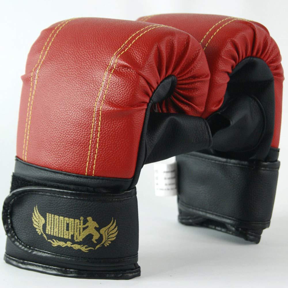 Guanti da palestra Sandbag Guanti da boxe Bent Sanda Fight Guanti da allenamento Thin Jackets Black RedOne Size
