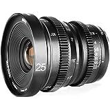 Meike MK-25mm T2.2大口径マニュアルフォーカスプライムミニシネマレンズ(マイクロフォーサーズM43 MFTカメラとBMPCC用)