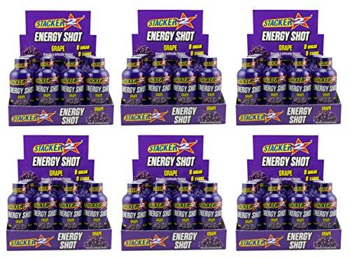Stacker 2 Energy Shots Grape Flavor 2oz. (72 Bottles) -