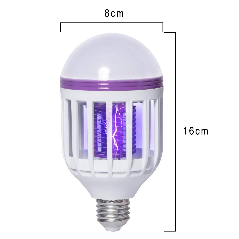 Wellgoo 1 2 Pack Killer Lamp, 2 in 1 Bee Zapper Light Bulbs, Fits 11
