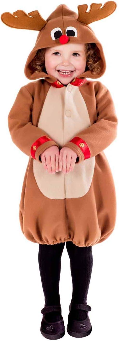 Fun Shack Marrón Reno Disfraz para Niños y Niñas - S