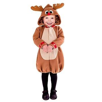 Fun Shack Marrón Reno Disfraz para Niños y Niñas - S: Amazon.es ...