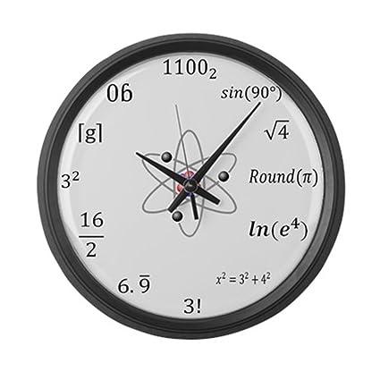 Amazon com: CafePress - Large Sheldon Cooper Maths Wall Clock