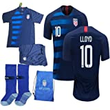 afb8e3d9e USA Soccer Team Christian Pulisic Carli Lloyd Alex Morgan Replica Kid Jersey  Kit   Shirt