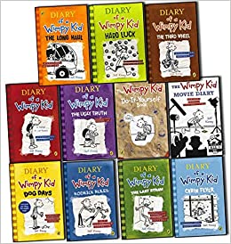 Diary of a Wimpy Kid Collection 11 Books Set Pack by Jeff