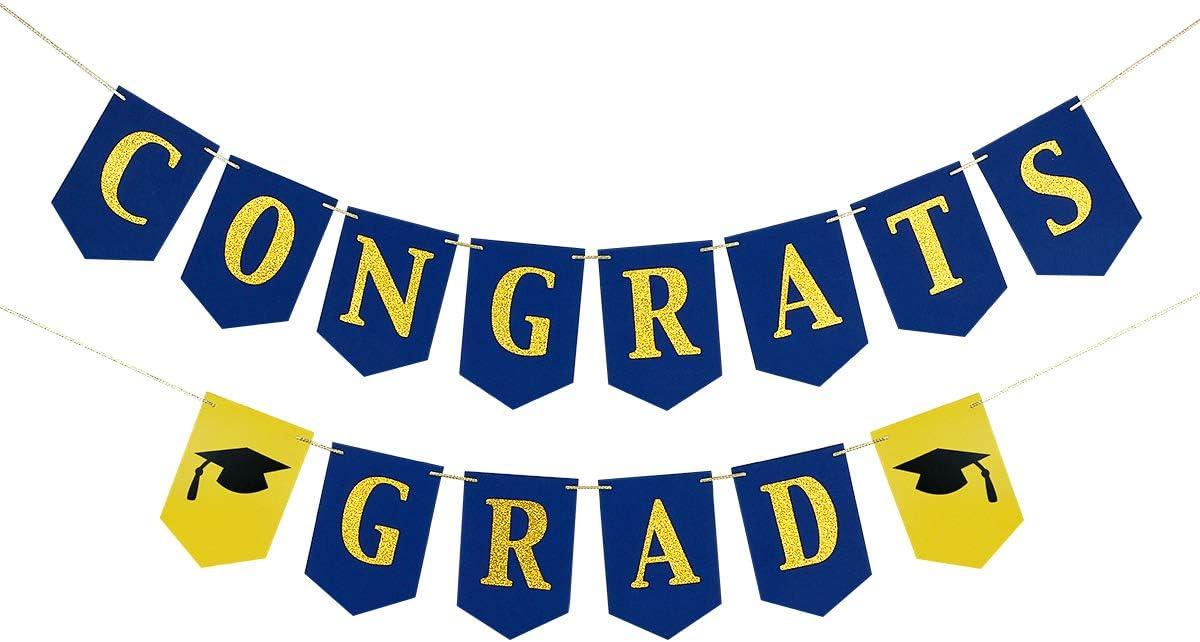 2020 Graduation Party Decorations,Congrats Grad Banner- Graduation Party Decorations/Grad Party Decoration Supplies