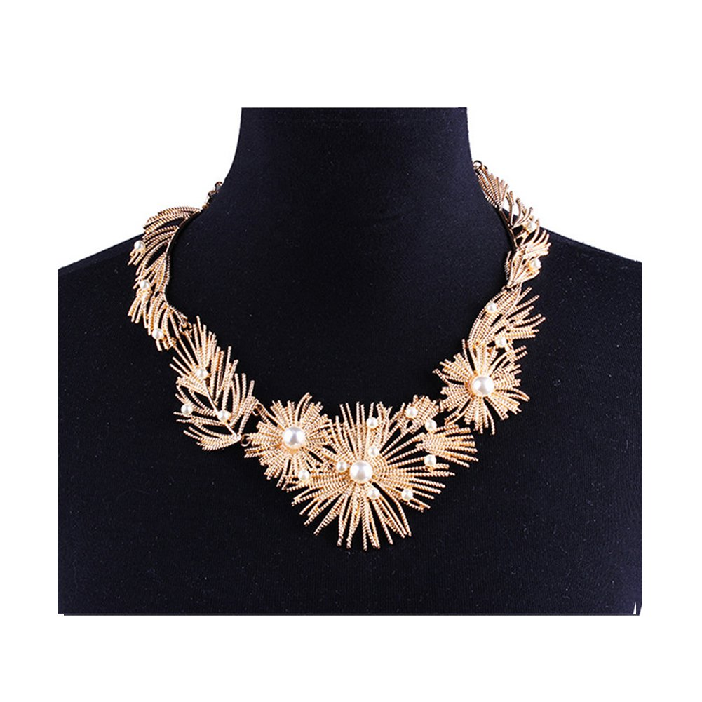 DIDa Statement Necklace for Women Chunky Necklace Gold Collar Bib Choker Necklace