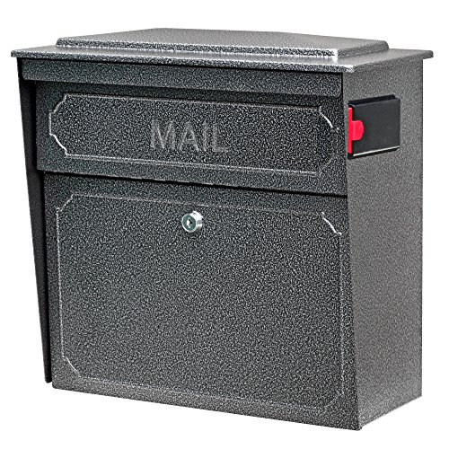 Mail Boss 7175 Townhouse Locking Security Wall Mount Mailbox, -