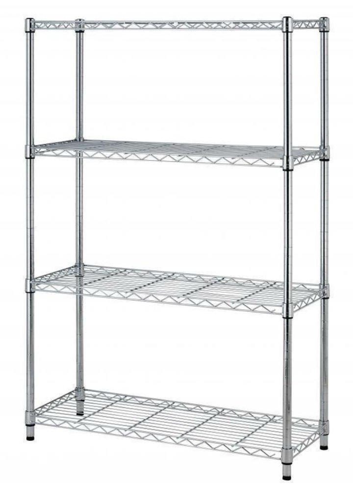 36''x14''x54'' 4 Tier Layer Shelf Adjustable Steel Wire Metal Shelving Rack T54 (Chrome)