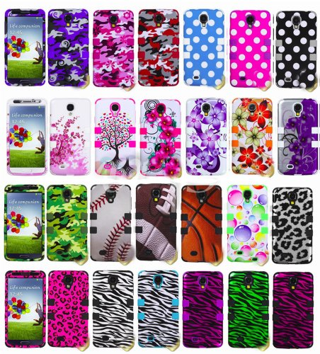 "myLife Lime Green - Colorful Bubble Design (3 Piece Hybrid) Hard and Soft Case for the Samsung Galaxy S4 ""Fits Models: I9500, I9505, SPH-L720, Galaxy S IV, SGH-I337, SCH-I545, SGH-M919, SCH-R970 and Galaxy S4 LTE-A Touch Phone"" (Fitted Front and Back Solid Cover Case + Internal Silicone Gel Rubberized Tough Armor Skin)"