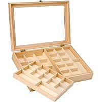 Glorex GmbH 6 2003 341 Sieradendoosje van grenenhout, FSC Mix, ca. 40 x 28 x 7,5 cm