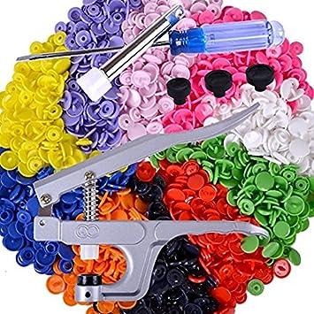 Snap alicates, TOPRAY bolsa para pañales Press Stud Poppers y 150 juegos T5 tamaño 20