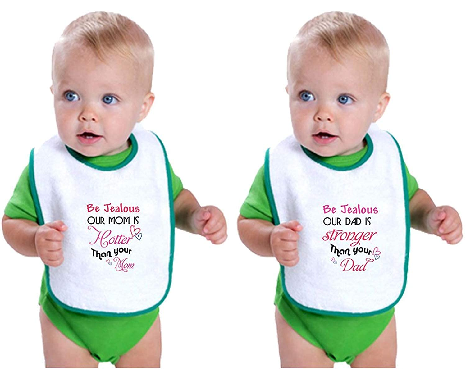 Amazon com: Jealous Mom Hotter/Dad Stronger Infant Contrast