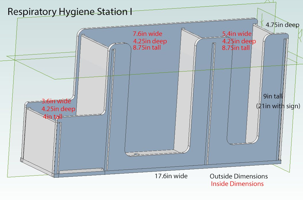 Respiratory Hygiene Station I (with Stand) by Poltex (Image #3)