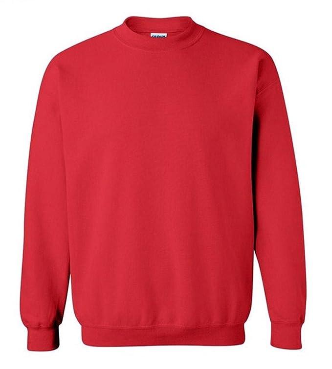9172aefb84d Bigood Sweat-Shirt Homme Pull Coton Tops à Manches Longues Col Rond sans  Capuche Sport  Amazon.fr  Vêtements et accessoires