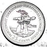 Canada 1992 NT 25 cents Northwest Territories UNC Provincial Canadian Quarter