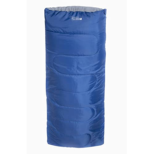 Mountain Warehouse Basecamp 200 Sleeping Bag - Easy Care All Season Sleeping Bag, Warm Kids Camping Bag, Extreme Temperature Of 5C - For Adults & Children