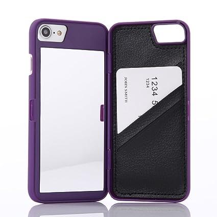 Amazon.com: Funda para iPhone 7, iPhone 8 Wetben con espejo ...