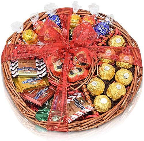 Gift Basket Ferrero, Mozart, Ghirardelli Lindor for Valentines Day , Easter , and Mothers Day