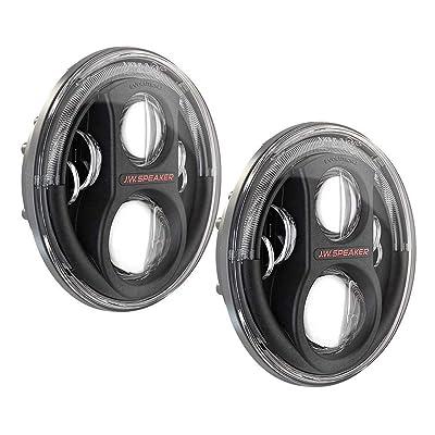 JW Speaker 8700 J2 Black Headlights Pair 0554543: Automotive