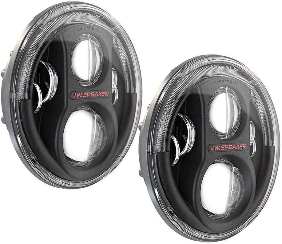 JW Speaker 8700 J2 Black Headlights Pair 0554543