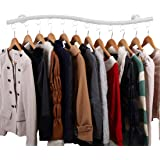 Marvelous Wall Mounted Clothes Hanging System, YIFAN Iron Clothing Hanger Rack For  Living Room Bedroom Laundry