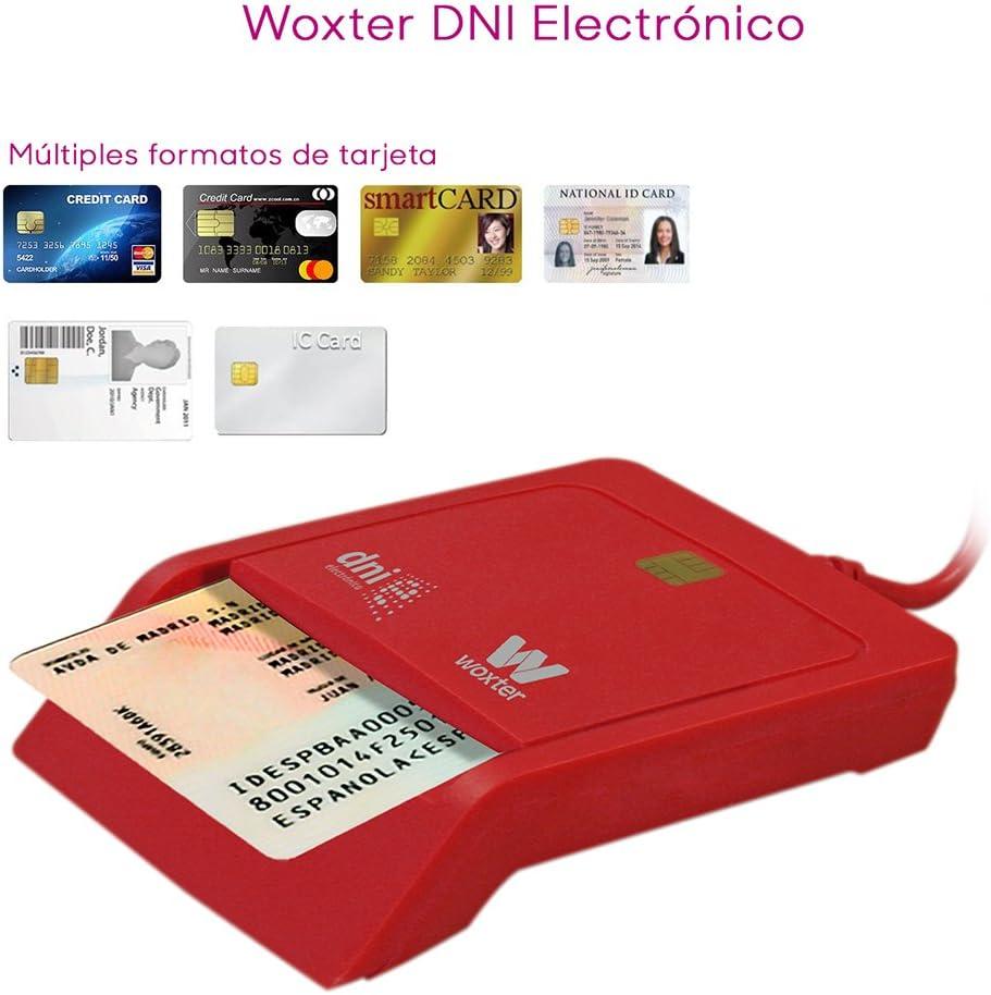 Woxter Lector DNI Electrónico Rojo - Lector de DNI Electrónico ...